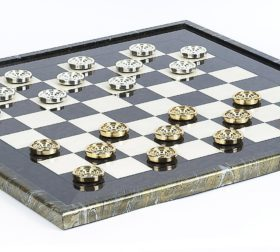 Giant Gold Checkers & Magnificent Briarwood Board
