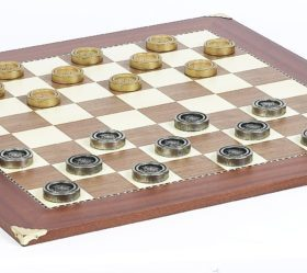 Giant Metal Checkers & Champion Board