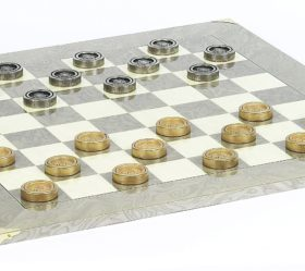 Giant Metal Checkers & Superior Board